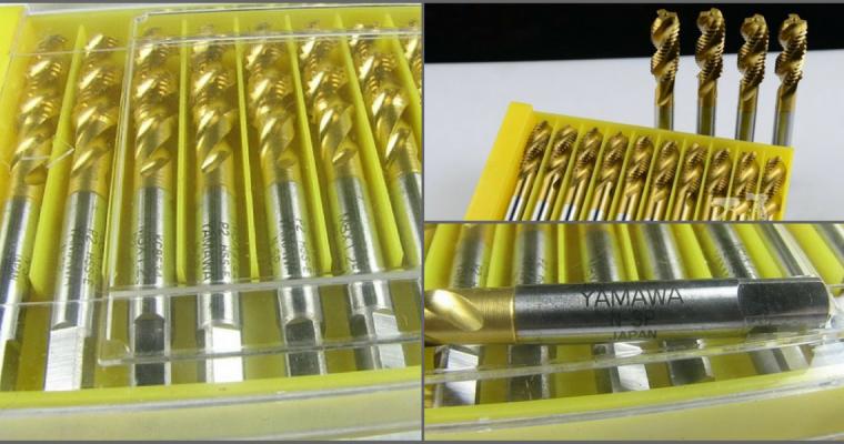 ดอกต๊าปไฮสปีด เคลือบไทเทเนียม ดอกต๊าปรูผ่าน  ดอกต๊าปรูตัน ต๊าปเกลียว Yamawa HSS Titanium coating spiral tapping