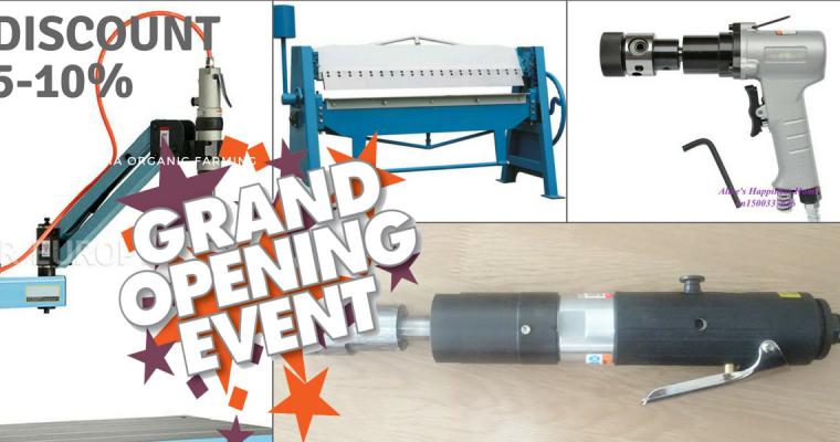 เปิดตัวเครื่องจักรแบนด์ Rich Forward MT Grand Opening Discount 5-10%